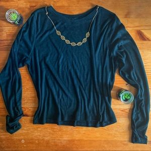 Forest green knit H&M long sleeve crop top